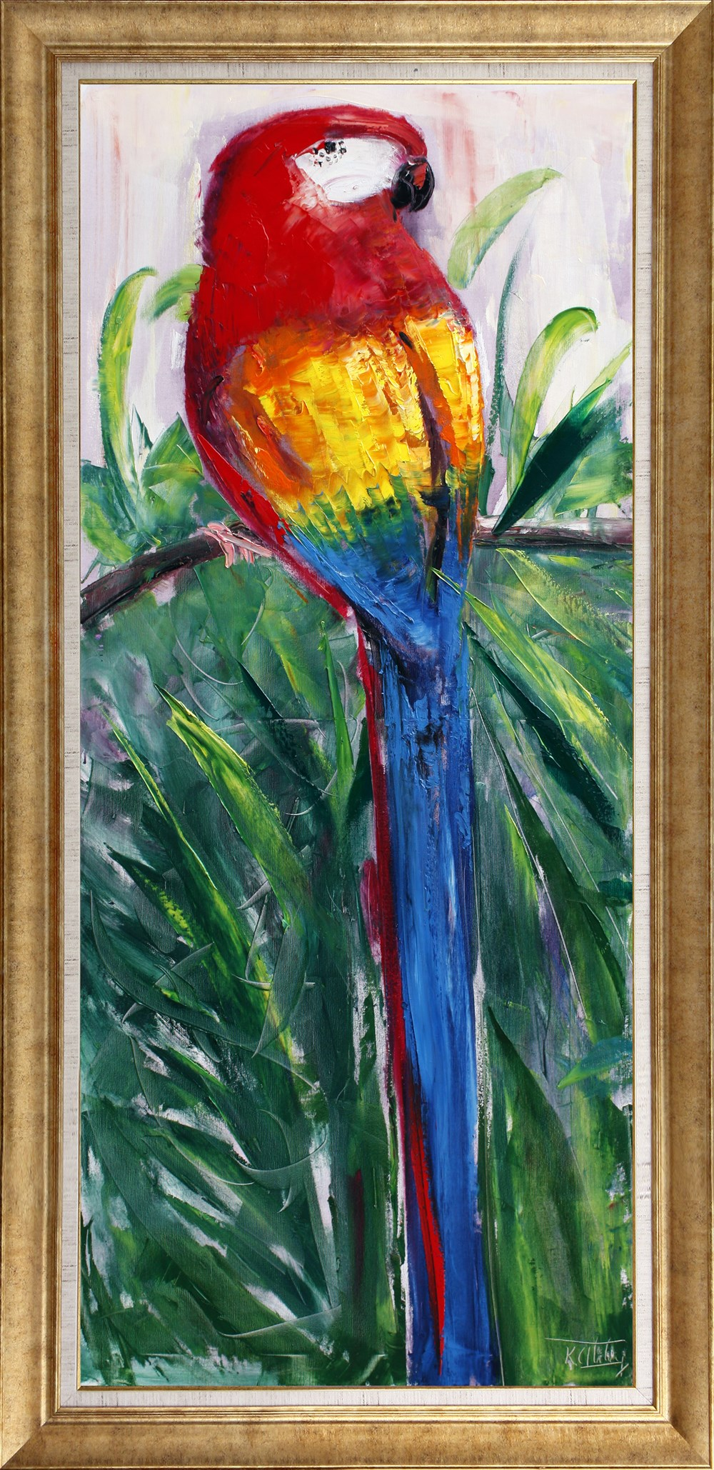 Alone parrot bird oil painting 380474