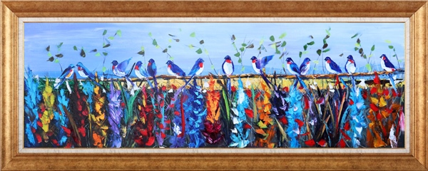 Birds on the Branch | Oil paintings