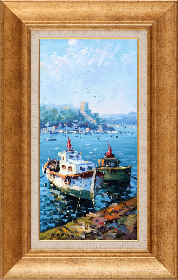 Boats On The Shore | Oil paintings