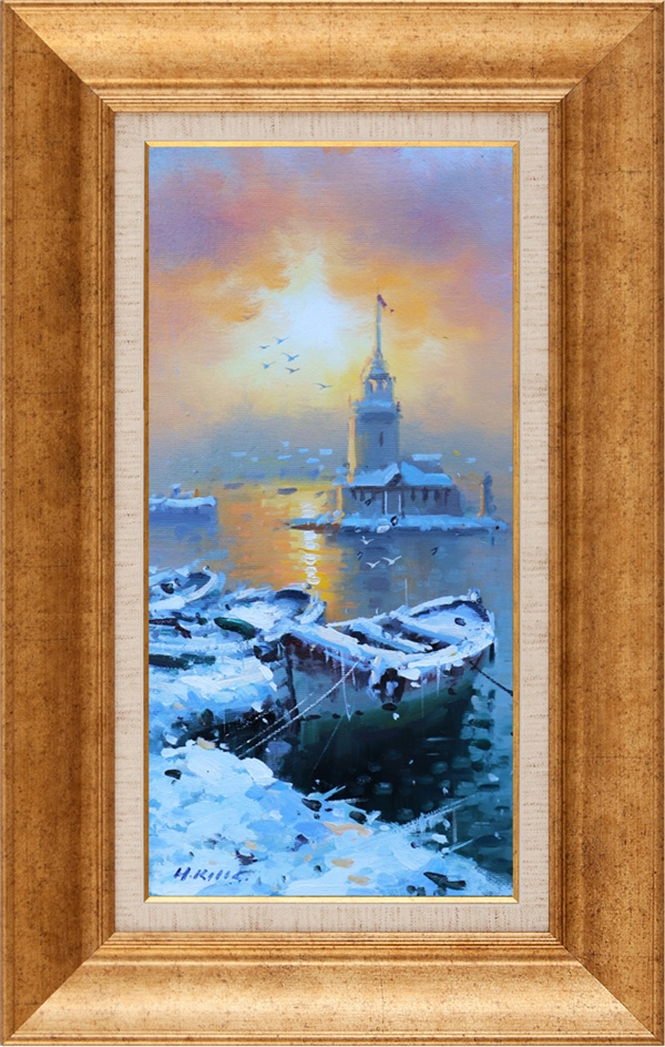 Winter in Maiden's Tower | Oil paintings