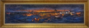 Sunset in İstanbul | İstanbul Oil Painting