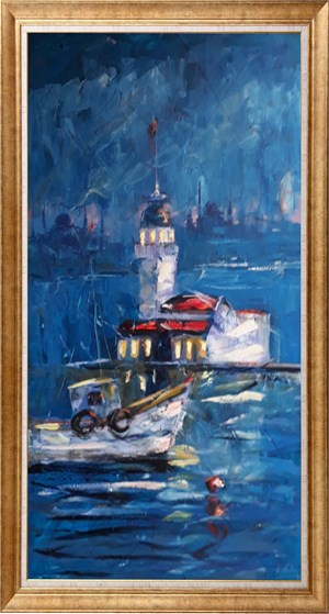 When going to Maiden Tower | İstanbul Oil Painting