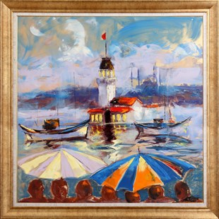 Fan Of Maiden Tower | İstanbul Oil Painting