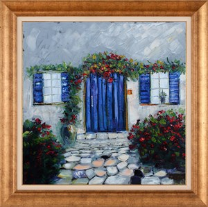 Houses of Bodrum-2 | Landscape Oil Painting