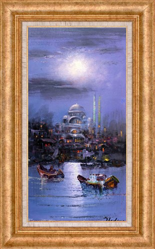 Boats in the Golden Horn | Oil Painting