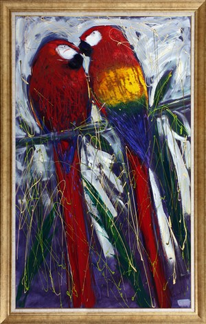 Parrots | Animal Oil Painting