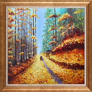 Autumn Pines | Oil paintings