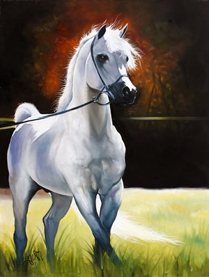White Horse | Animal Oil Painting