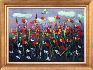 Poppy Field | Oil Painting