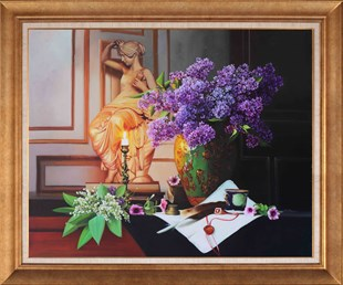 Lilacs and Letter | Oil Painting