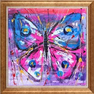 Colorful Butterfly | Oil paintings
