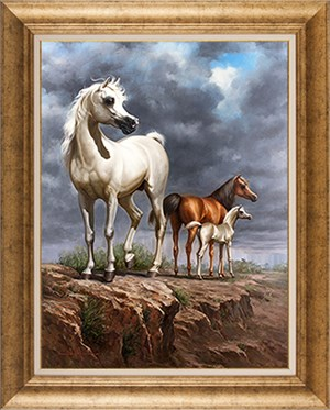 Family | Şahruki | Horse Oil Painting