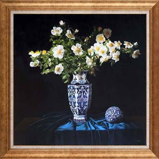 White Flowers in Vase | Oil paintings